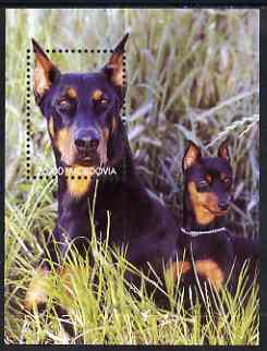 Mordovia Republic 2001 Dogs perf m/sheet unmounted mint (Doberman)
