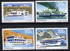 Australia 1979 Ferries & River Steamers set of 4 unmounted mint, SG 704-07*