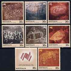 Australia 1984 Bicentenary of Australian Settlement (1st series) Rock Paintings set of 8 unmounted mint, SG 951-58