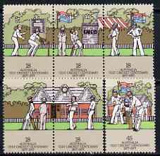Australia 1977 Test Cricket Centenary set of 6 unmounted mint, SG 647-52