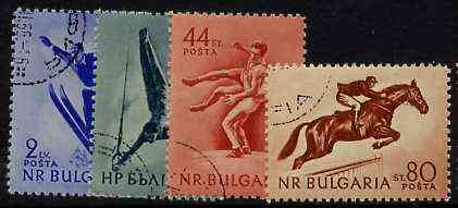 Bulgaria 1954 Sports set of 4 fine cds used, SG 963-66