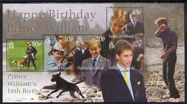 Falkland Islands 2002 Prince William's 18th Birthday m/sheet unmounted mint