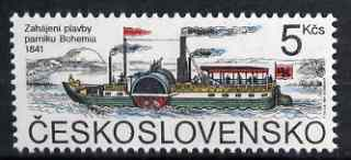 Czechoslovakia 1991 Paddle Steamer Bohemia 5k unmounted mint, SG 3053