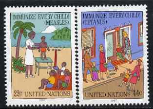United Nations (NY) 1987 Immunize Every Child set of 2 unmounted mint, SG 526-27