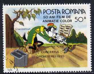 Rumania 1986 Goofy playing Clarinet 50b fine used, SG 5021