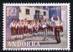 Andorra - Spanish 1972 Les Caramelles (Choir) 1p50 (from Customs set) unmounted mint, SG 75