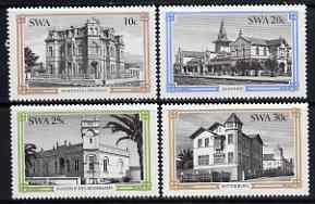 South West Africa 1984 Historic Buildings of Swakopmund set of 4 unmounted mint, SG 423-26
