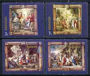 Malta 1977 400th Birth Anniversary of Rubens - Flemish Tapestries (1st series) set of 4 unmounted mint, SG 576-79*