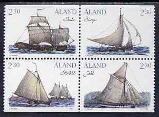 Aland Islands 1995 Cargo Sailing Ships set of 4 (ex booklet) unmounted mint, SG 91-94