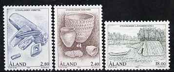 Aland Islands 1994 The Stone Age set of 3 unmounted mint, SG 87-89