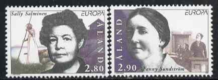 Aland Islands 1996 Europa - Famous Women set of 2 unmounted mint, SG 109-10