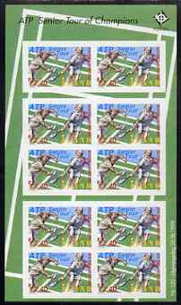 Aland Islands 1998 Tennis Tour self-adhesive sheetlet containing 10 stamps unmounted mint, as SG 139