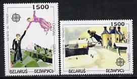 Belarus 1993 Europa - Paintings by Chagall set of 2 unmounted mint, SG 50-51