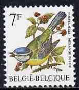 Belgium 1985-90 Birds #1 Blue Tit 7f unmounted mint, SG 2851