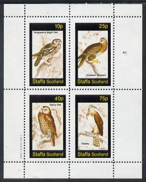Staffa 1982 Birds #34 (Night Owl, Osprey etc) perf set of 4 values (10p to 75p) unmounted mint
