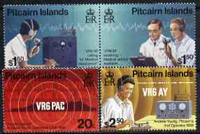 Pitcairn Islands 1996 Amateur Radio Operations set of 4 unmounted mint, SG 500-503