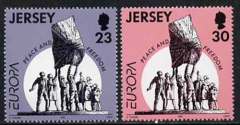 Jersey 1995 Europa - Peace & Freedom set of 2 unmounted mint, SG 698-99*