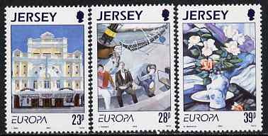 Jersey 1993 Europa - Contemporary Art set of 3 unmounted mint, SG 625-27