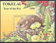 Tokelau 1996 Chinese New Year - Year of the Rat perf m/sheet unmounted mint, SG MS 239