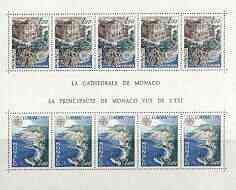 Monaco 1978 Europa - Views perf sheetlet containing five sets of two unmounted mint, SG MS 1347