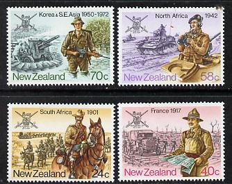 New Zealand 1984 NZ Military History set of 4 unmounted mint, SG 1352-55