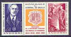 Andorra - French 1972 General De Gaulle