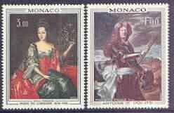 Monaco 1972 Paintings (Princes & Princesses of Monaco) set of 2 unmounted mint, SG 1023-24