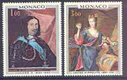 Monaco 1969 Paintings (Princes & Princesses of Monaco) set of 2 unmounted mint, SG 958-59