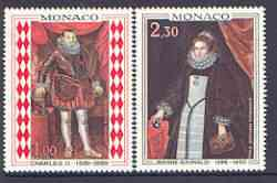 Monaco 1968 Paintings (Princes & Princesses of Monaco) set of 2 unmounted mint, SG 932-33