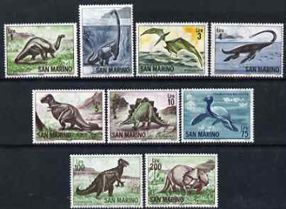 San Marino 1965 Pre-historic Animals perf set of 9 unmounted mint SG 773-81
