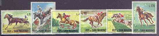San Marino 1966 Equestrian Sports set of 6 unmounted mint, SG 788-93