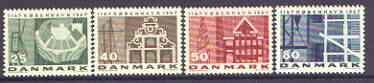 Denmark 1967 Anniversary of Copenhagen set of 4 on fluorescent paper unmounted mint, SG 483-86