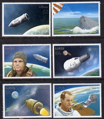 Ajman 1968 Men in Space set of 6 unmounted mint (Mi 333-38A)
