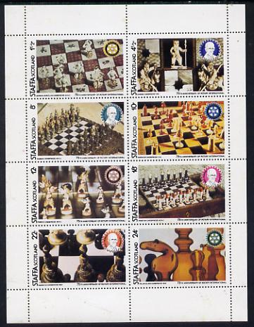 Staffa 1980 Chess Pieces (75th Anniversary of Rotary International) perf set of 8 values unmounted mint
