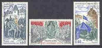 France 1968 History of France (3rd series) set of 3 superb cds used, SG 1809-11