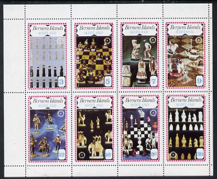 Bernera 1979 Chess Pieces (75th Anniversary of Rotary) perf set of 8 values (3p to 28p) unmounted mint