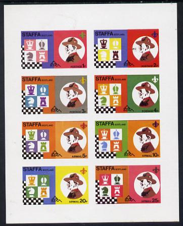 Staffa 1978 Scouts & Chess imperf set of 8 values (1p to 50p) unmounted mint