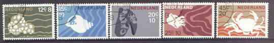 Netherlands 1967 Cultural, Health & Social Welfare Funds - Marine Life set of 5 fine cds used, SG 1026-30