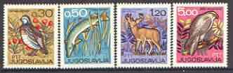 Yugoslavia 1967 International Hunting & Fishing Exhibition set of 4 unmounted mint, SG 1294-97