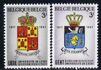 Belgium 1967 Universities of Ghent & Liege set of 2 unmounted mint, SG 2036-37