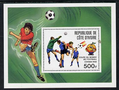 Ivory Coast 1982 World Cup Football perf m/sheet unmounted mint