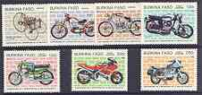 Burkina Faso 1985 Centenary of Motorcycles complete perf set of 7 unmounted mint, SG 766-72