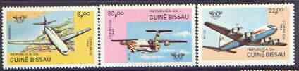 Guinea - Bissau 1984 40th Anniversary of ICAO set of 3 unmounted mint, SG 832-34