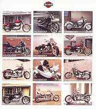 Tatarstan Republic 2002 Harley Davidson Motorcycles imperf sheetlet containing set of 12 values unmounted mint