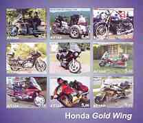 Altaj Republic 2002 Honda Gold Wing Motorcycles imperf sheetlet containing set of 9 values unmounted mint