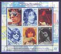 Karelia Republic 2002 George Harrison perf sheetlet containing set of 6 values unmounted mint