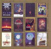 Tatarstan Republic 2001 The Top Movies (Film Posters) perf sheetlet containing set of 12 values unmounted mint