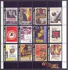 Sakha (Yakutia) Republic 2001 Classic Cinema (Film Posters) perf sheetlet containing set of 12 values unmounted mint