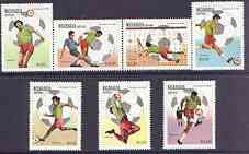 Nicaragua 1982 Football World Cup Championships (2nd issue) complete perf set of 7 unmounted mint, SG 2325-31