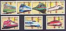 Kampuchea 1989 Trams & Trains complete set of 7 unmounted mint, SG 960-66